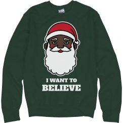 I Want To Black Santa Sweater