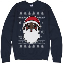 Yo Yo Yo Black Santa Sweater
