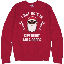 Got Ho's Black Santa Sweater