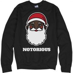 Notorious Black Santa Sweater