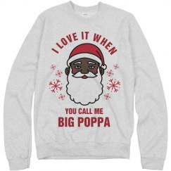 Big Poppa Black Santa Sweater