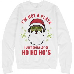 Not A Player Black Santa Sweater
