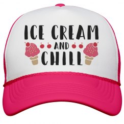 Ice Cream & Chill Neon Hat