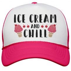 Ice Cream & Chill Neon Hat