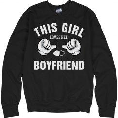 Girl loves her boyfriend