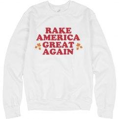 Rake American Leaves