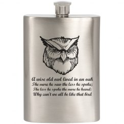 Owl Quote Flask