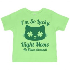 Kids Cat Puns St Patricks Day
