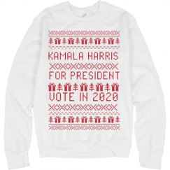 Kamala Harris Ugly Xmas Sweater
