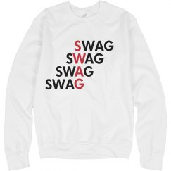 Swag Red Crew Neck