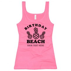Unisex Basic Promo Tee Neon Birthday Beach
