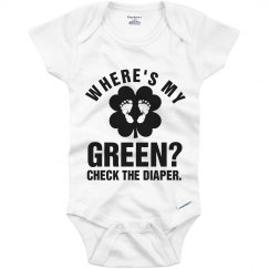 Funny Baby St Patricks Day Green