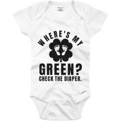 Funny Baby St Patricks Day Green
