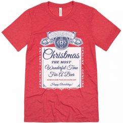 Vintage Beer Label Christmas Pun