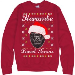 Harambe Loved Christmas Ugly