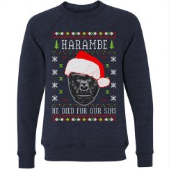 Harambe Ugly Sweater For Christmas