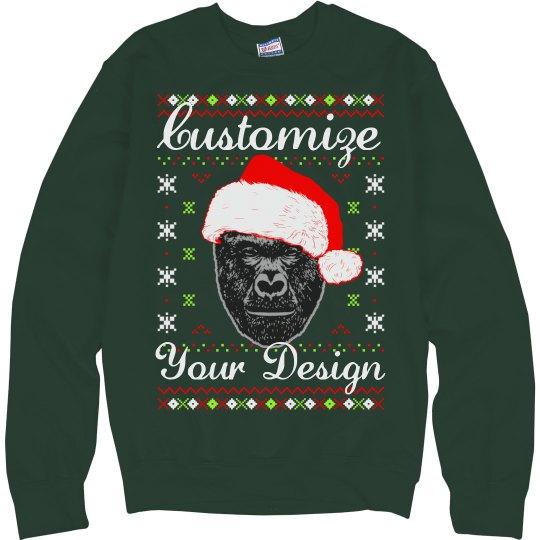 custom harambe christmas sweater - Custom Christmas Sweater