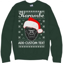 Custom Harambe Meme Xmas Sweater
