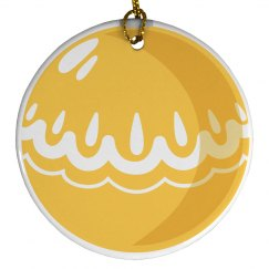 Yellow Ball Ornament