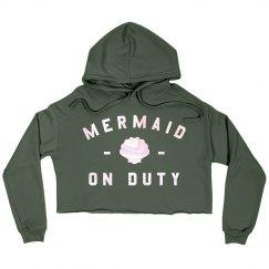 Trendy Metallic Mermaid On Duty