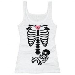 Skeleton baby maternity shirt