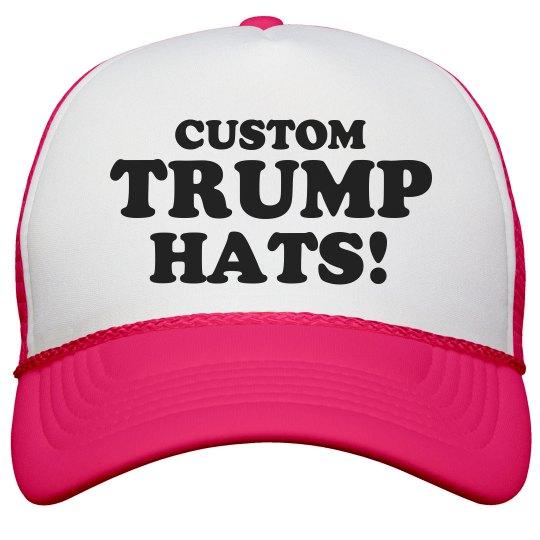 Custom Neon Trump Hat Neon Snapback Trucker Hat a58a52ed301