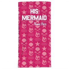 His Mermaid Beach Towel