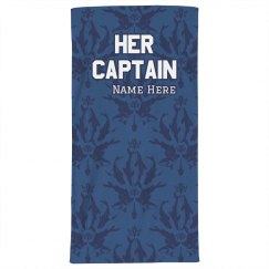 Her Captain Beach Towel