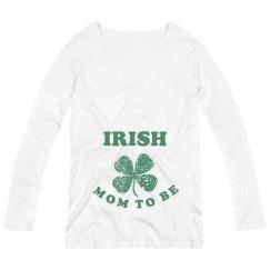 Irish Mom to Be St Patrick Maternity Top