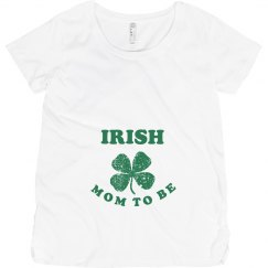 Irish Mom to Be St Patrick Maternity Top