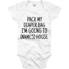 Pack My Diaper Bag Custom Name