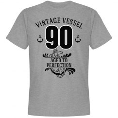 Nautical 90th birthday aged to perfection