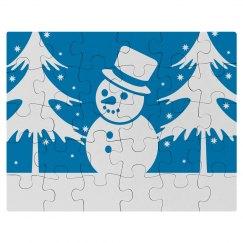 Cute Winter Snowman Kid's Puzzle