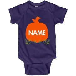 Custom Baby Name Pumpkin Halloween