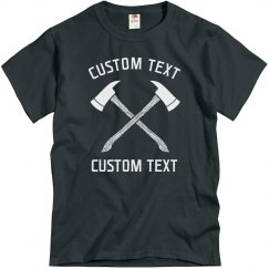 Custom Axe Throwing Club Tees
