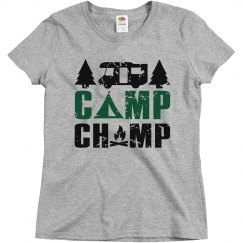 Camp Champ Ladies Relaxed Basic Tee