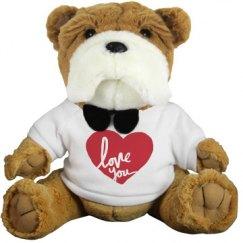 Love You Valentines Day Teddy Bear