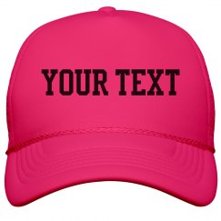 Your Text Neon Hat