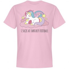 I Suck At Fantasy Football Unicorn