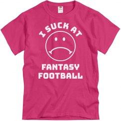 I Suck At Fantasy Football Sad Face