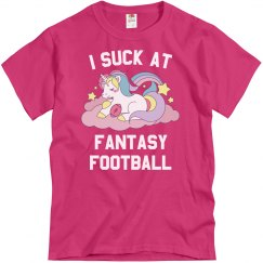 I Suck At Fantasy Football Pink