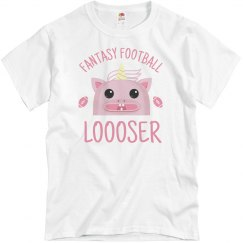 Fantasy Football Pink Unicorn Loser