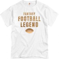 Metallic Fantasy Football Legend