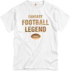 Metallic Fantasy Football Legend