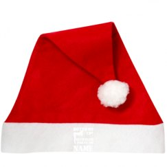 Personalized Red Felt Holiday Santa Hat