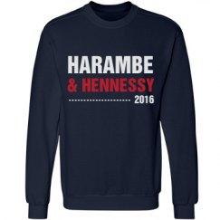 Harambe & Hennessy Funny Sweatshirt