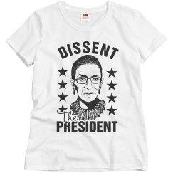RBG Not My President Dissent Collar