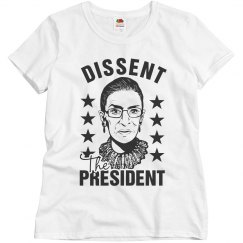 RBG Not My President Dissent Collar