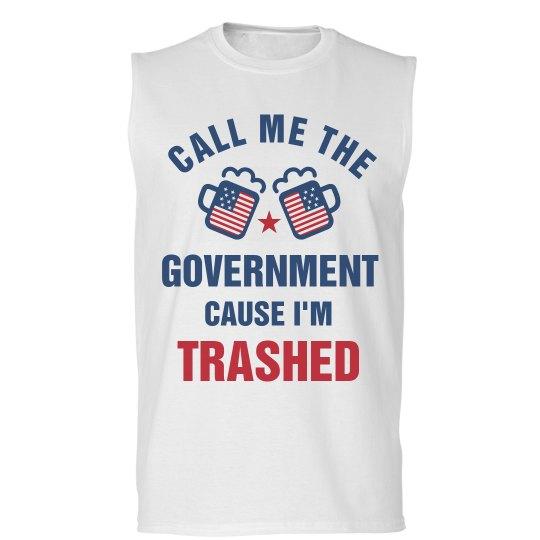 5e89b8e377 The System is Trash Unisex Basic Promo Sleeveless T-Shirt