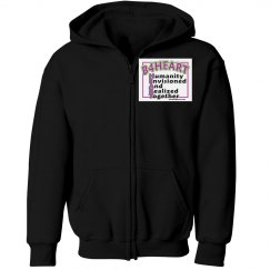 B4HEART Youth Gildan Heavy Blend Full-Zip Hoodie